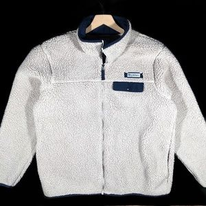 Columbia Fleece Jacket size L color beige Rare
